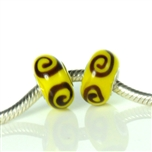 Koralik IRIS-1197 Żółty