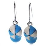 Kolczyki Charms Q-3397 Niebieski-Biały
